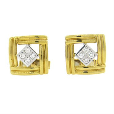 image of Diamond and Gold Cufflinks