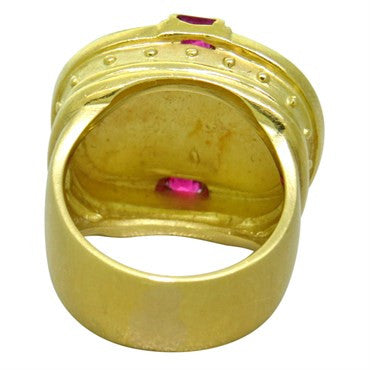 image of Seidengang 18K Yellow Gold Ruby Dome Ring