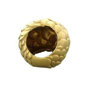 thumbnail image of Pomellato Sirene 18K Yellow Gold Fishscale Motif Dome Ring