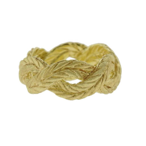 image of Buccellati Yellow Gold Braided Band Ring