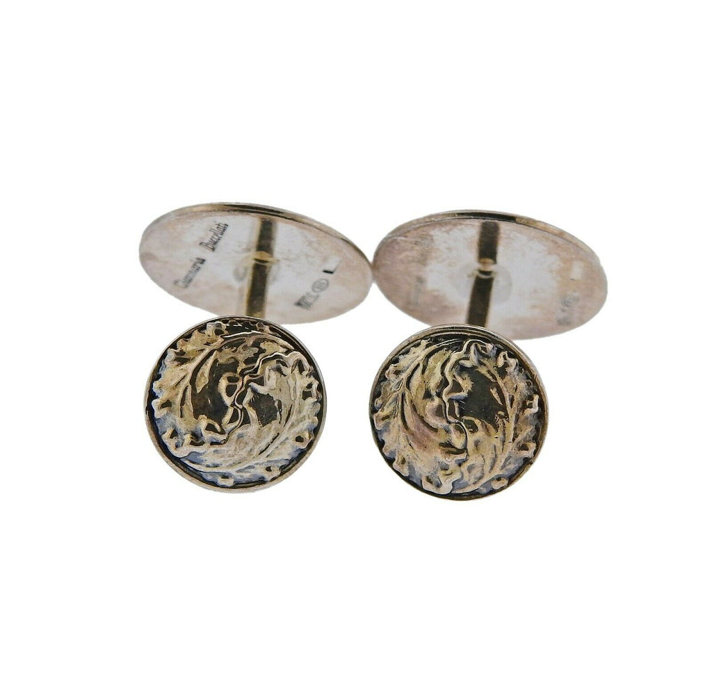 thumbnail image of Buccellati Sterling Silver Leaf Motif Cufflinks