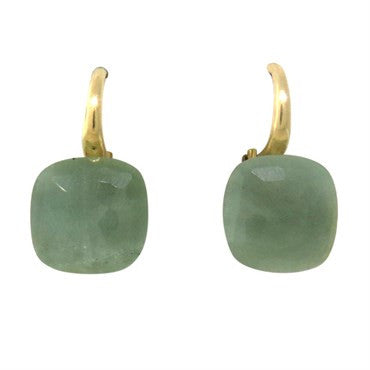 image of Pomellato Nudo 18k Gold Aquamarine Earrings