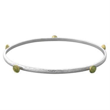 image of New Gurhan 24K Gold Sterling Silver Khaki Topaz Skittle Small Bracelet
