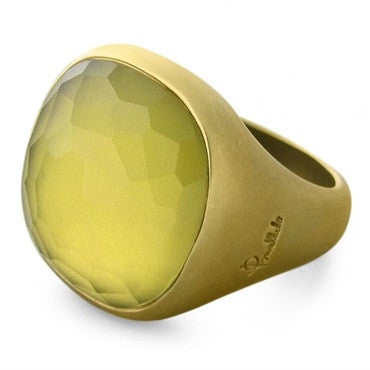 image of Pomellato Cipria 18K Yellow Gold Lemon Citrine Ring