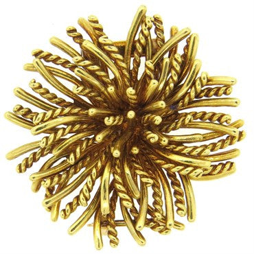 image of Tiffany & Co Anemone 18k Gold Brooch Pin