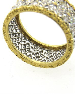 image of Buccellati 18k Gold Diamond Band Ring
