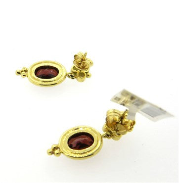 image of New Temple St. Clair Madeira Citrine Diamond 18k Gold Earrings