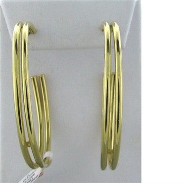 image of New Faraone Mennella 18k Gold Hoop Earrings