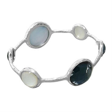 thumbnail image of New Ippolita Sterling Silver Wonderland Lollipop Bangle Bracelet