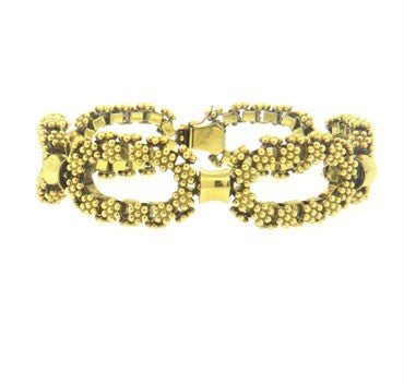 image of 1960s Classic Fancy Link 18k Gold Bracelet