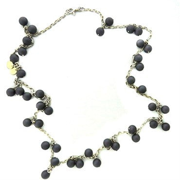 image of Gurhan Sterling Silver Black Spinel Necklace