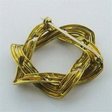thumbnail image of 18k Gold Tiffany & Co Star Of David Brooch Pin