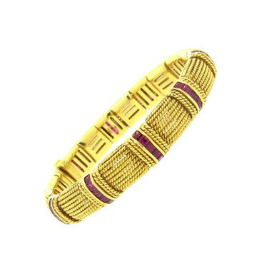 image of Roberto Coin Ruby 18k Gold Bracelet
