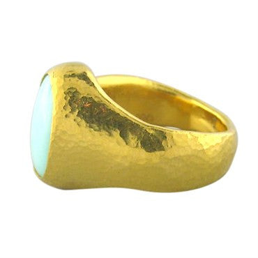 thumbnail image of New Gurhan 24k Gold 7.25ct Opal Ring