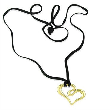 image of Robert Lee Morris 14k Yellow Gold Heart Pendant Necklace