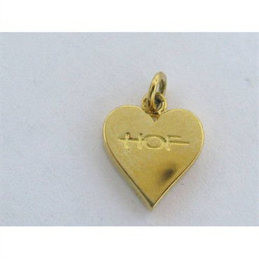 image of Hearts On Fire 18k Gold 0.08ct Diamond Heart Charm