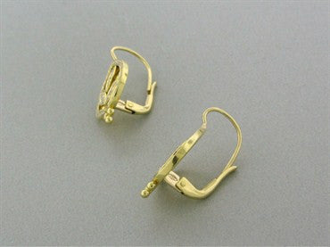 thumbnail image of New Temple St. Clair Pear Vine 18K Gold Diamond Earrings