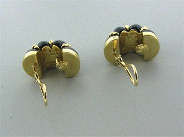 thumbnail image of Seaman Schepps 18K Yellow Gold Onyx Shrimp Earrings