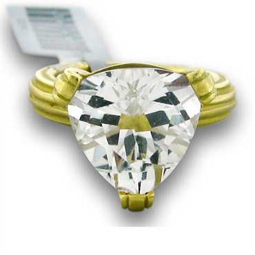 image of Slane And Slane 18k Gold White Topaz Ring