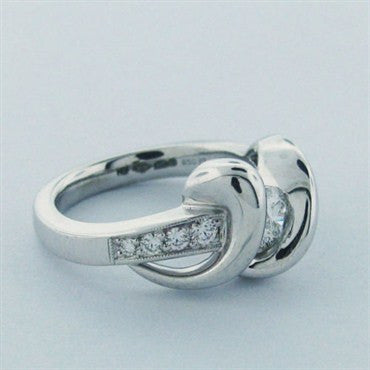 image of Hearts On Fire Fusion Swirl Platinum Ring