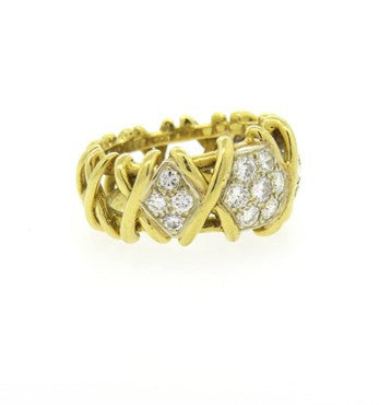 thumbnail image of Fine 2.40ctw Diamond 18k Gold Band Ring