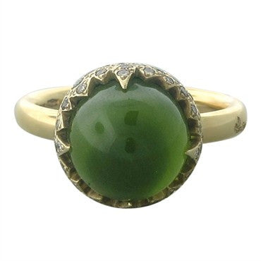 image of Pomellato Chimera 18K Gold Peridot Diamond Ring