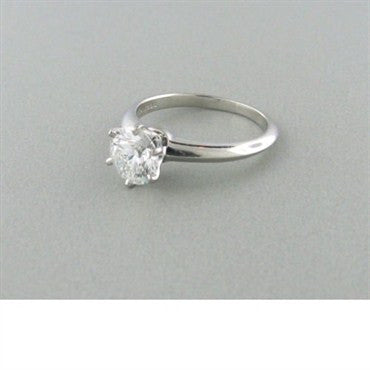 thumbnail image of Tiffany & Co Platinum 1.14ct Diamond Engagement Ring