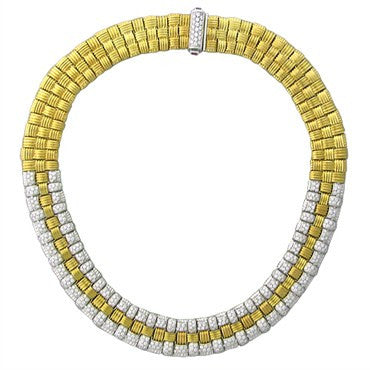 image of Roberto Coin 18K Gold 2.75ctw Diamond Appassionata Necklace