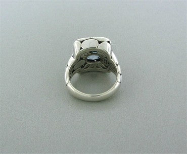 thumbnail image of Estate John Hardy Sterling Silver Kali Collection Blue Topaz Ring