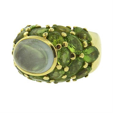 image of Large Mimi So Gold Peridot Gemstone Cocktail Ring