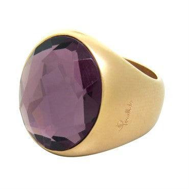 thumbnail image of New Pomellato Narciso 18k Gold Amethyst Ring