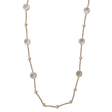 image of Ippolita Rose Collection Sterling Clear Quartz Lollipop Necklace