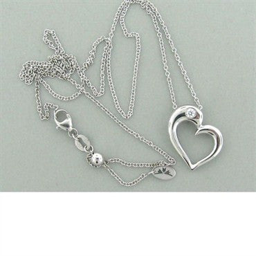 thumbnail image of Hearts On Fire Amorous Sculpted Heart Diamond Necklace
