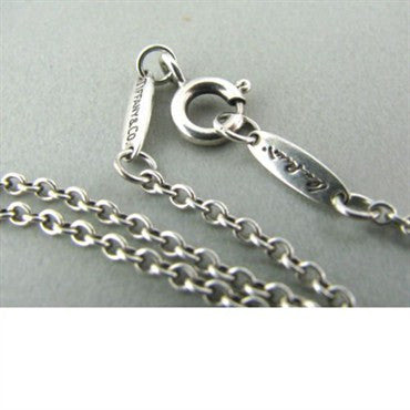 image of Tiffany & Co Elsa Peretti Open Heart Diamond Necklace