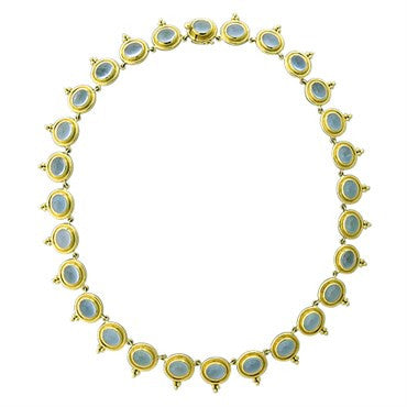 image of Temple St. Clair 18k Yellow Gold 56.00ct Aquamarine Necklace