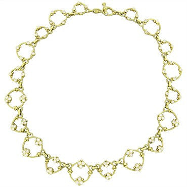 image of Judith Ripka 18k Gold 2.75ctw Diamond Circle Link Toggle Necklace