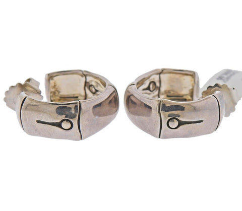 image of John Hardy Sterling Silver Bamboo Hoop Earrings
