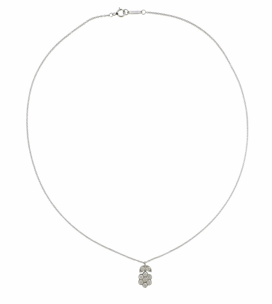 thumbnail image of Tiffany & Co Garden Platinum Diamond Flower Necklace