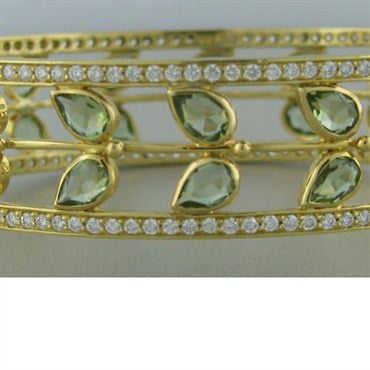 thumbnail image of Temple St. Clair 18k Gold Diamond Tourmaline Bracelet