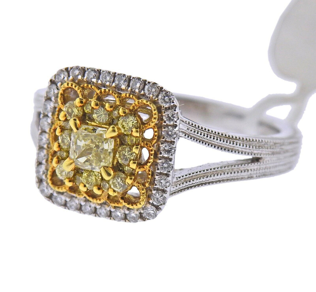 thumbnail image of Gregg Ruth Yellow White Diamond Gold Engagement Ring