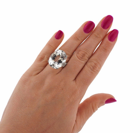 image of Ivanka Trump 18k Gold Crystal Diamond Ring