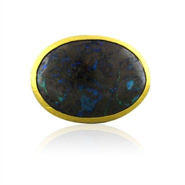 image of New Gurhan 24K Gold 35.15ct Boulder Opal Cocktail Ring