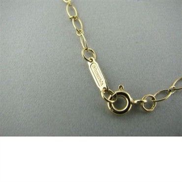 image of Tiffany & Co 18k Gold Double Key Pendant Necklace