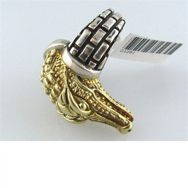thumbnail image of Kieselstein Cord Sterling 14k Gold Alligator Ring