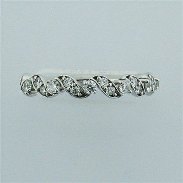 image of Hearts On Fire Diamond Intertwining Leaf Wedding Band