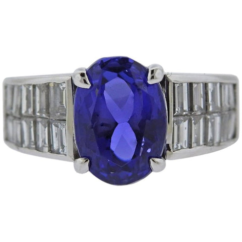 image of Diamond 4.75 Carat Tanzanite Gold Ring