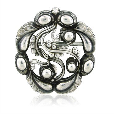 image of Georg Jensen Denmark Sterling Silver Brooch Pin Number 159