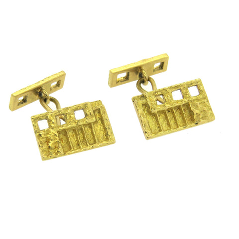 1970s Unusual 18k Yellow Gold Cufflinks