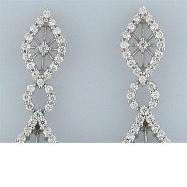 thumbnail image of New Hearts On Fire Tantalizing 3.91ct Diamond Earrings