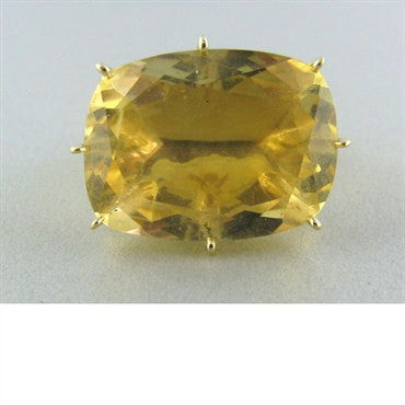 image of H. Stern Sunrise 18k Gold Diamond Citrine Ring